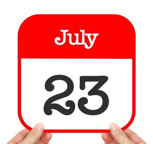 July 23 written on a calendar