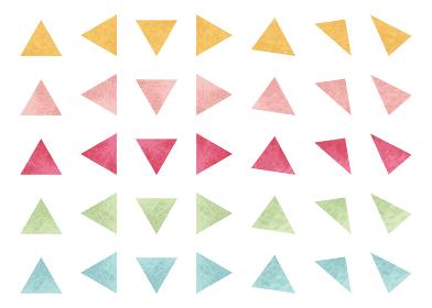 水彩図形 三角セット