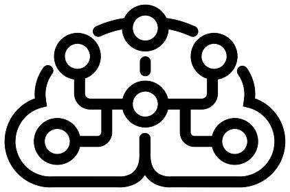 AI, 人工知能, 機械学習, ディープラーニング アイコン