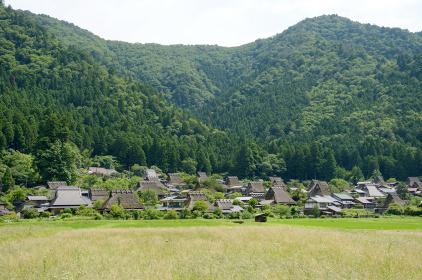 美山かやぶきの里 遠景 京都府南丹市美山町