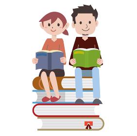 本 若い 男女 読書
