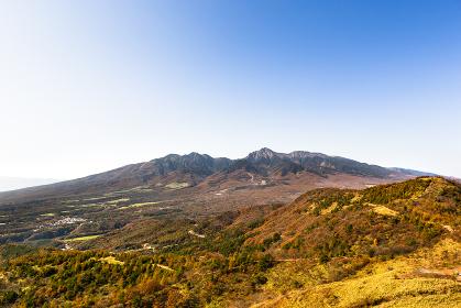 10月の野辺山高原ハイキング・山梨、日本