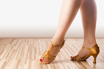golden dance shoes