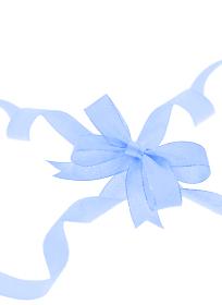 青色のリボン