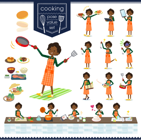 flat type business black women_cooking