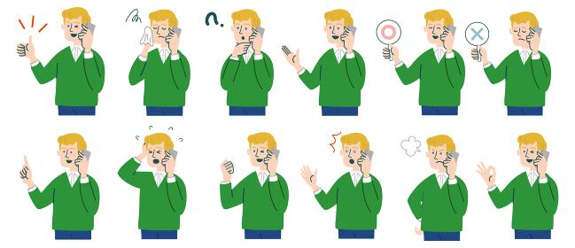 男性 外国人 ブロンド 携帯電話 スマホ セット