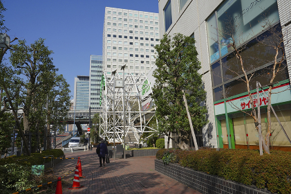 大崎駅近辺の街並み