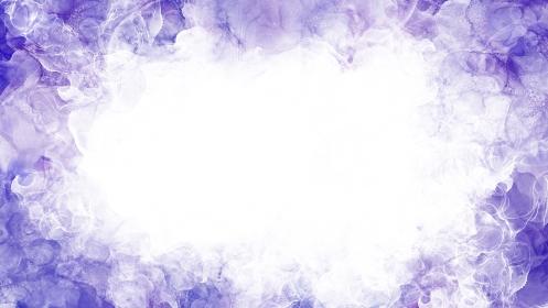 紫色のアルコールインクアートのフレームイラスト
