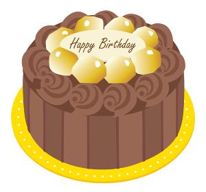 チョコレートマロンのお誕生日ケーキ