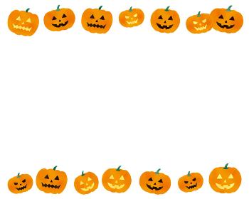 ハロウィンのかぼちゃのイラストレーションセット