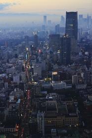 東京六本木夕景パノラマ