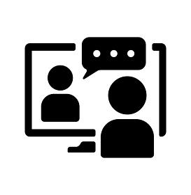 ビデオ会議・オンラインミーティング・ウェブセミナー ベクターアイコンイラスト