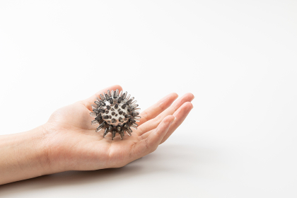手 ウイルス 新型コロナイメージ