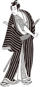 浮世絵 歌舞伎役者 その38 白黒