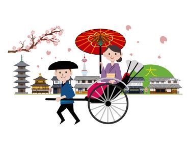 京都 観光 人力車 風景