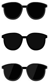 イラスト素材 サングラス メガネ 眼鏡 日よけ 日差し ベクター