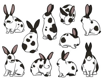 おすわりウサギ ブロークンセット