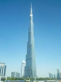 建築タワーで世界一の高さを誇るドバイの摩天楼ブルジュ・ハリファ昼間の様子