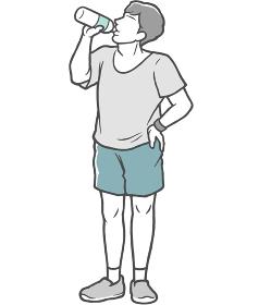 水分補給 若い男性