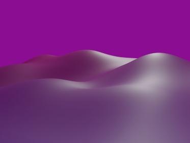 紫の山のような波のCG