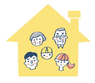 家と5人家族