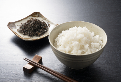 ご飯と塩昆布