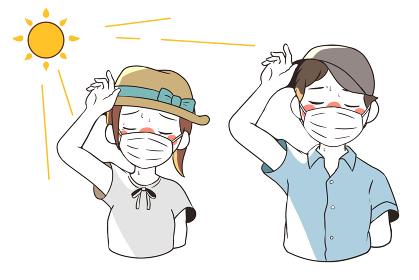 熱中症で目が眩む(マスクあり)
