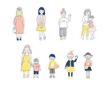 さまざまな年齢の子どもたち セット