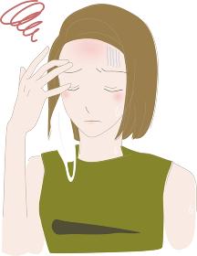 夏 マスク 熱中症 女性