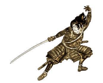 太平記尼崎合戦中国引返しの図 金バージョン