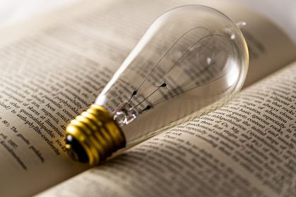 裸電球と英語の本