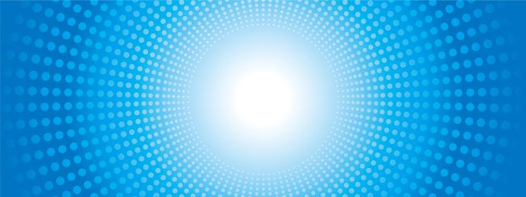 ドットの集中線の背景イラスト(ブルー)・コミック・漫画背景|放射・放射線