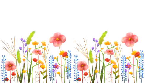 背景素材 草花 水彩 フレーム 手描き