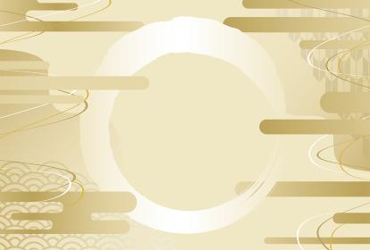 黄金色の和風背景素材