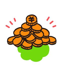 たくさんの日本円の硬貨