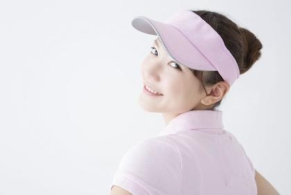 テニススタイルの女性