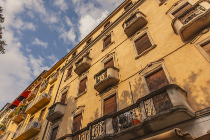 Architectural detail of historic buildings in Verona 3