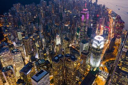 Central, Hong Kong, 02 October 2018:- Hong Kong city at night