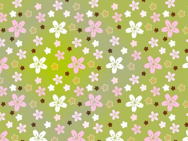 緑色の桜の和風な背景