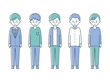 微笑む5人の男性
