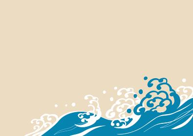 波の背景イラスト