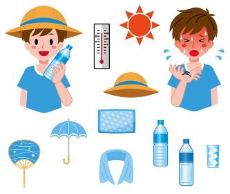 熱中症対策、男の子のセット