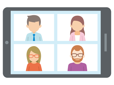 テレワーク リモートワーク オンライン ビデオ会議 タブレット