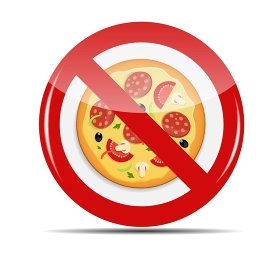 No Pizza sign vector illustration