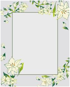 百合の花 フレーム 枠