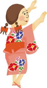 夏祭り 盆踊り 女の子