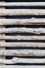fence or shutters of wooden sticks