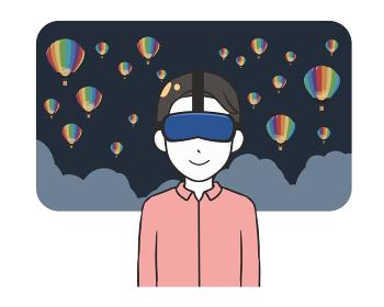VR 観光 夜景 男性