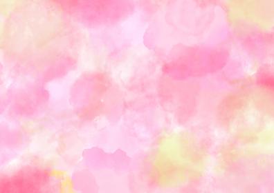 水彩調 アブストラクト背景 ピンク