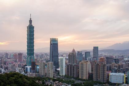 Taipei city, Taiwan, 18 May 2018:- Taipei city in the evening